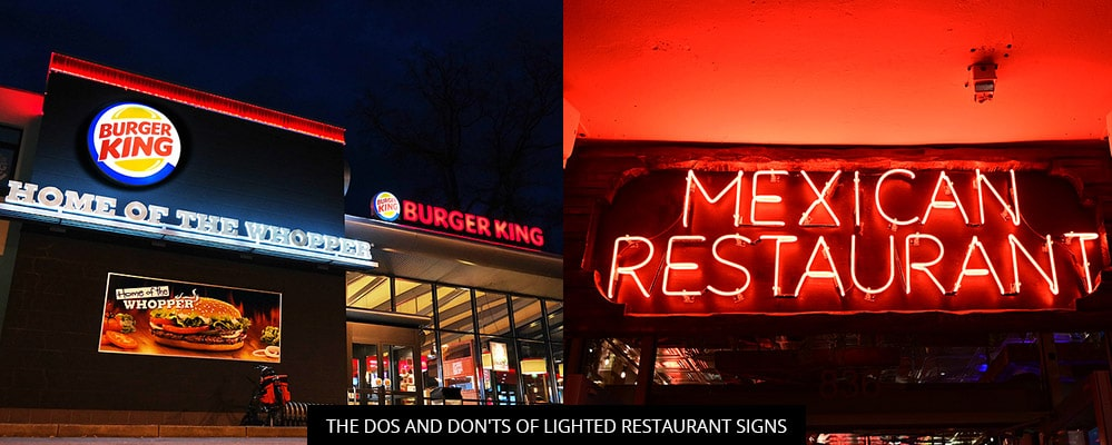 The Dos And Don'ts Of Lighted Restaurant Signs